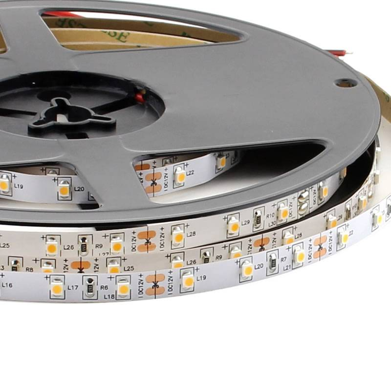 Tira LED Monocolor HQ SMD3528, DC12V, 5m (60 Led/m) - IP20, Blanco cálido
